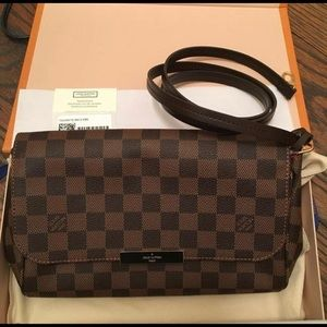 BNIB Louis Vuitton Favorite MM Damier Ebene